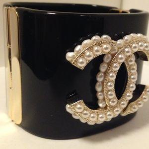 CHANEL Jewelry - CHANEL Pearl Monogrammed Cuff Bracelet